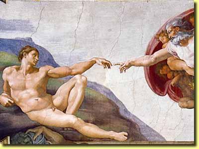 アダムの創造 : 聖書では人間は...